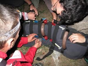 Práctica rescate montaña