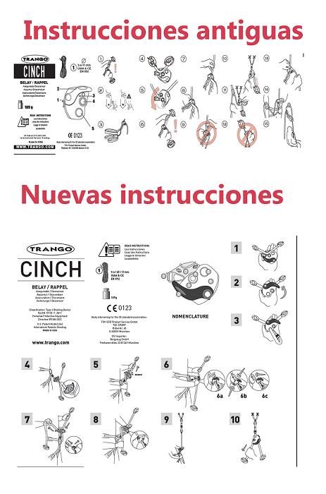 Instrucciones nuevas cinch