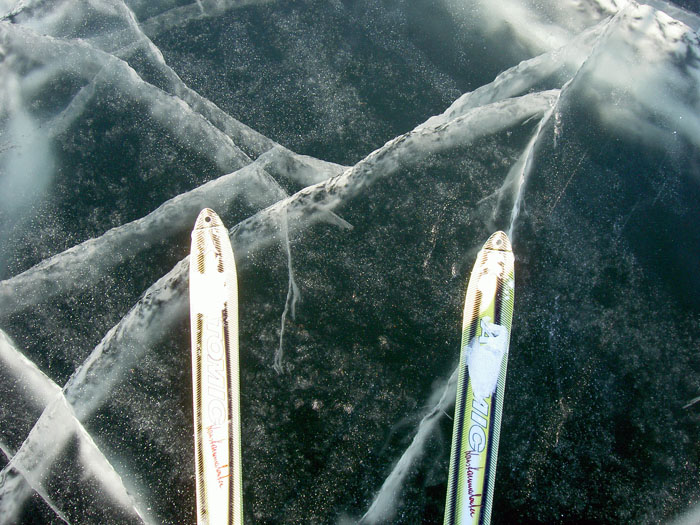 Lago Gran Esclavo grosor hielo