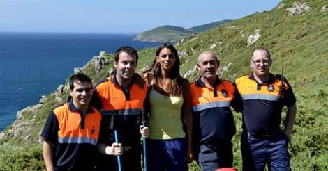 Lena Waterfeld con rescatadores