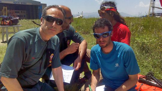 Con Kilian Jornet y Jordi Tosas
